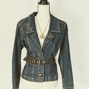 MOTTO denim jacket w gorgeous details, 6